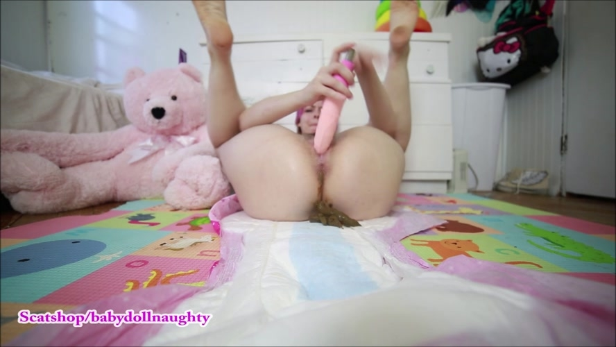 Open diaper pooping - FullHD 1920x1080 - (Actress: BabyDollNaughty 2018)